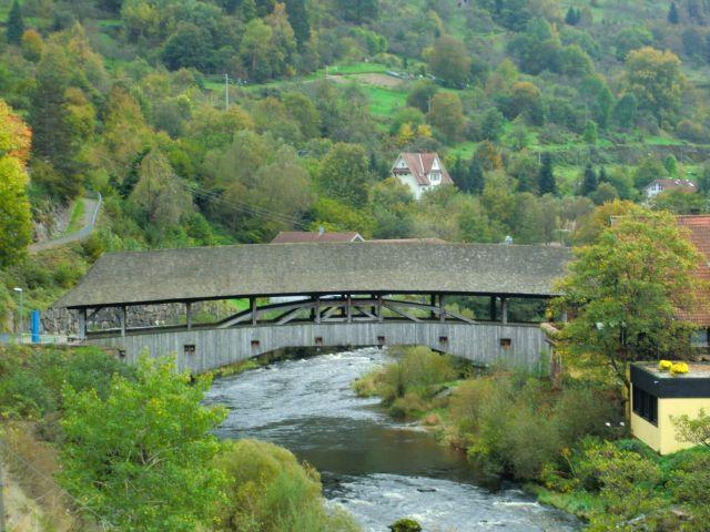 Puente de madera en Forbach.