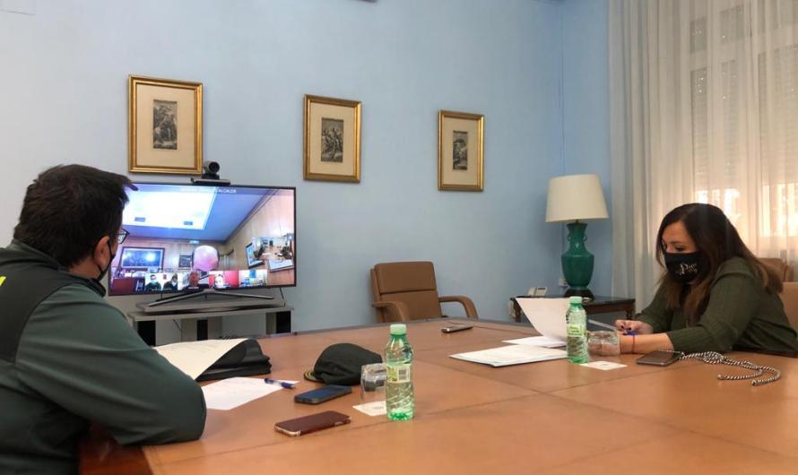 La subdelegada preside la Junta Local de Seguridad de Pozo Alcón para analizar el inicio de la campaña de recolección de la aceituna