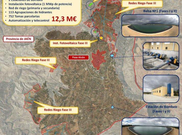 …y fase III : 12,3 m de € para  975 nuevas hectáreas de regadío