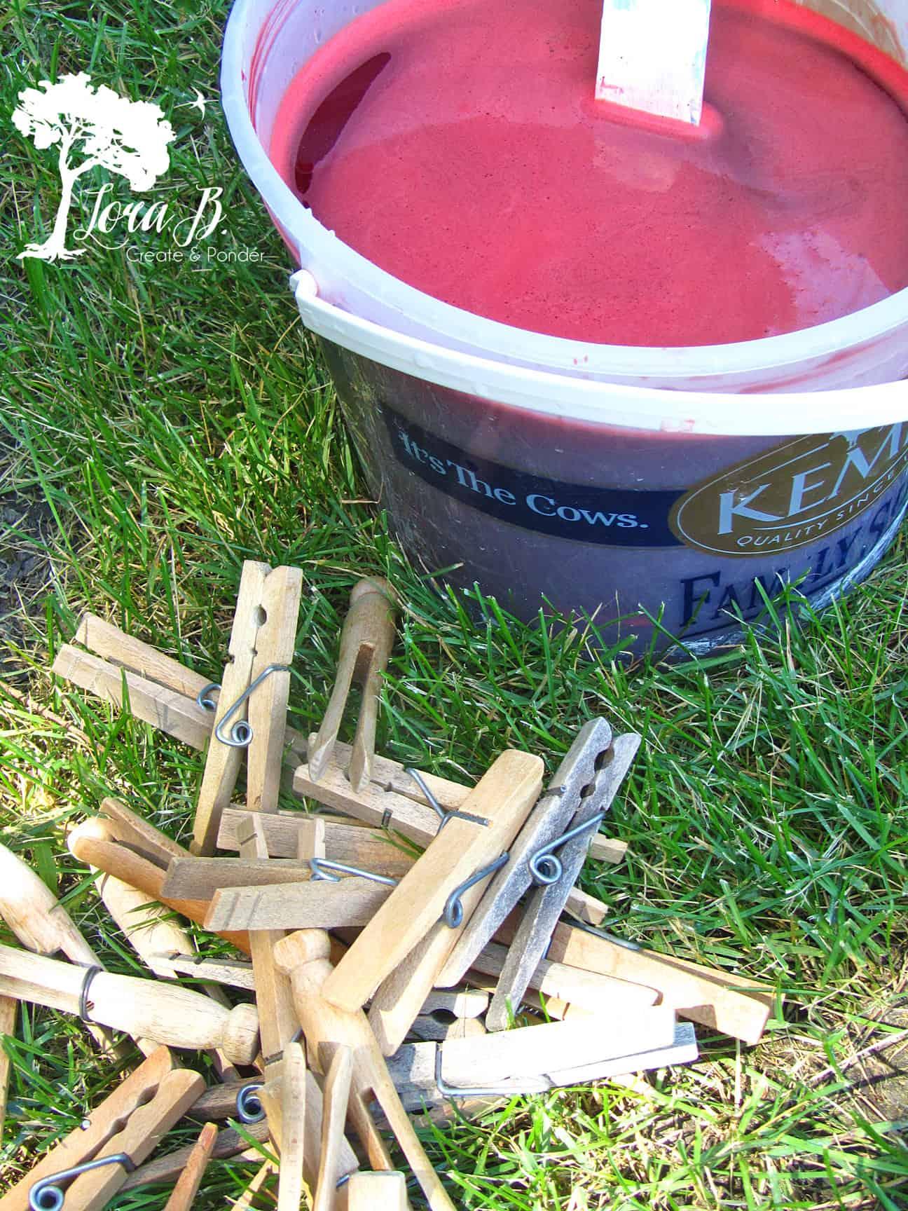 Rit dye in bucket