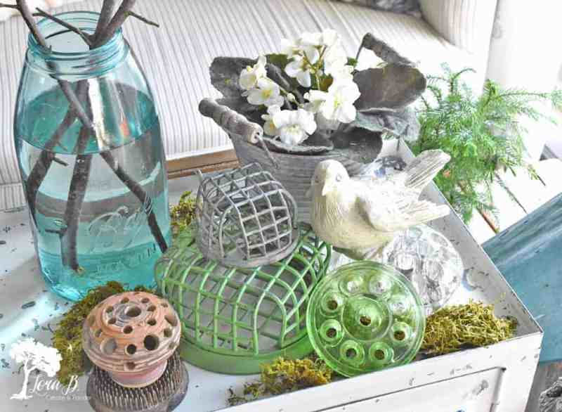 Spring decor, vintage style
