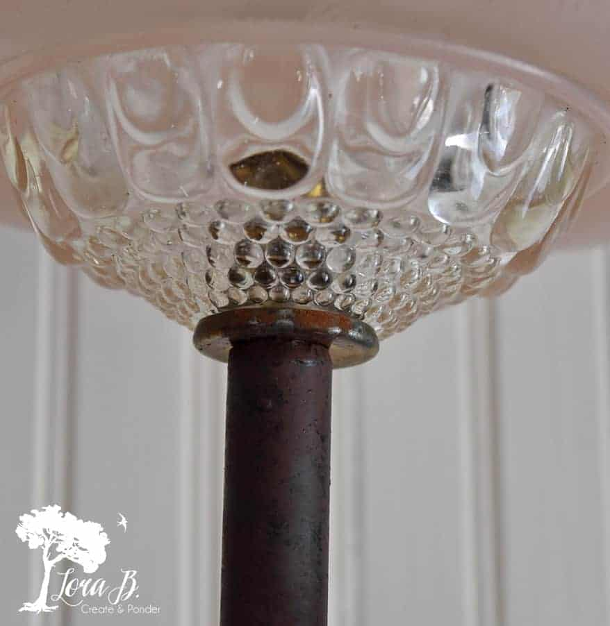 vintage glass light shade