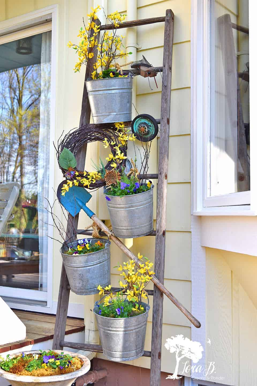 outdoor ladder display