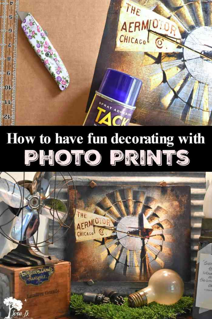 how to decorate with photo prints