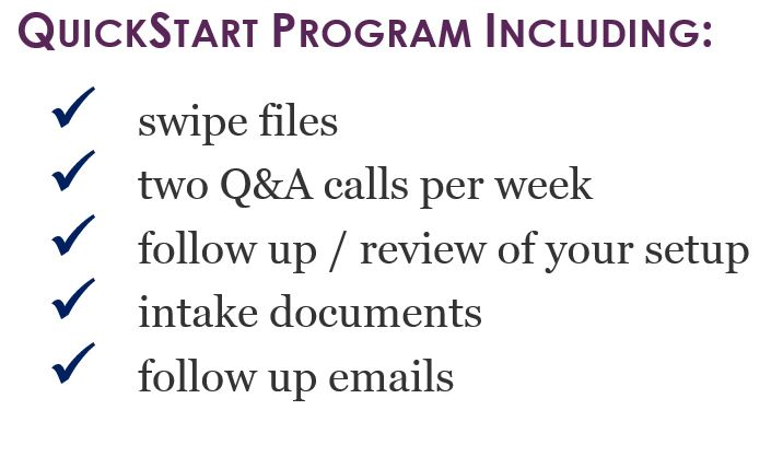 QuickStart Program Includes