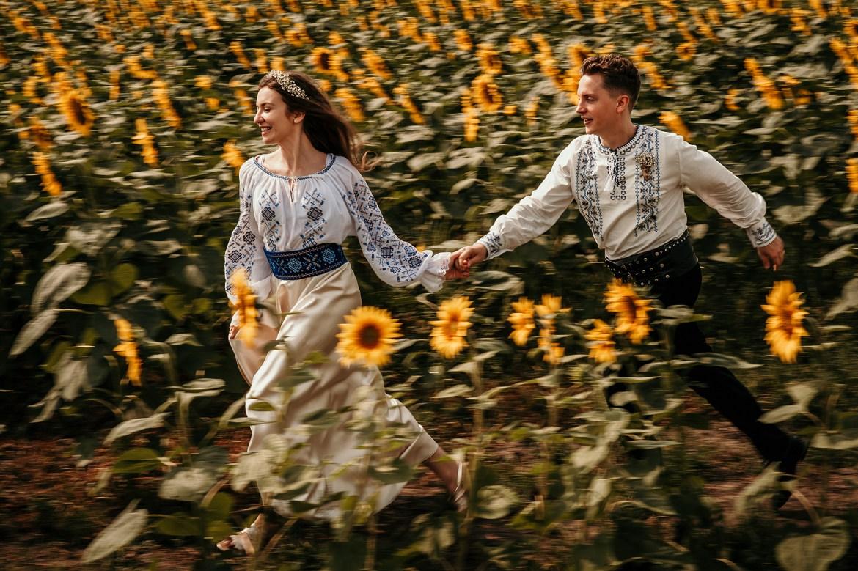 Timisoara TrashTheDress fotograf nunta floarea soarelui