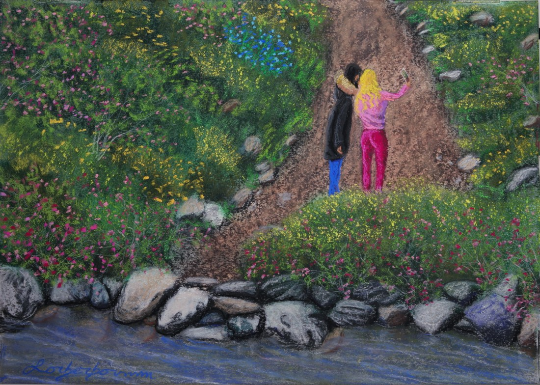 Tlmuseum.com, Lorberboim Soft Pastel Painting. Nahal Sששר