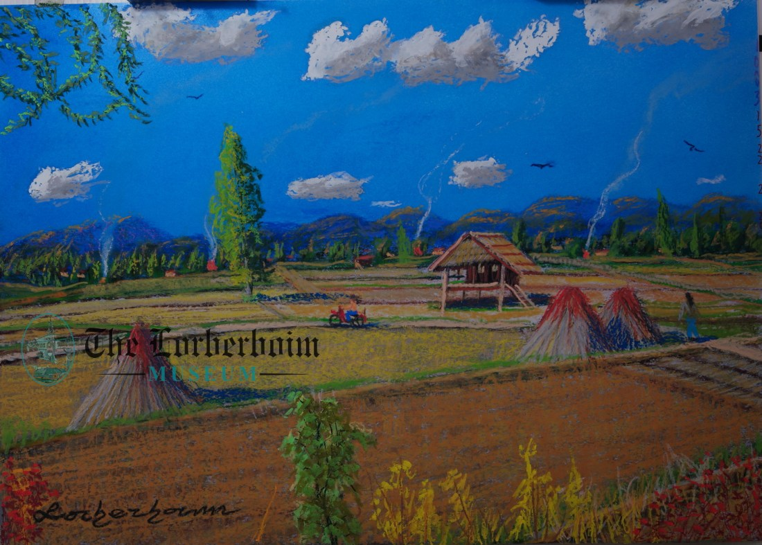 Rice worker, , Museum, Lorberboim, Tlmuseum.com, artnot4sale, Lorberboim.com, Lorberboim Soft Pastel Painting
