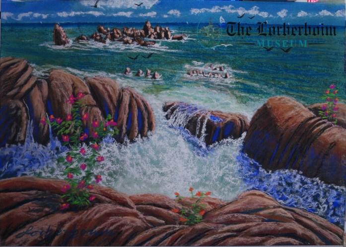 Sea, Museum, Lorberboim, Tlmuseum.com, artnot4sale, Lorberboim.com, Lorberboim Soft Pastel Painting,