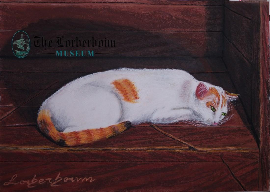 Cat, Museum, Lorberboim, Tlmuseum.com, artnot4sale, Lorberboim.com, Lorberboim Soft Pastel Painting,