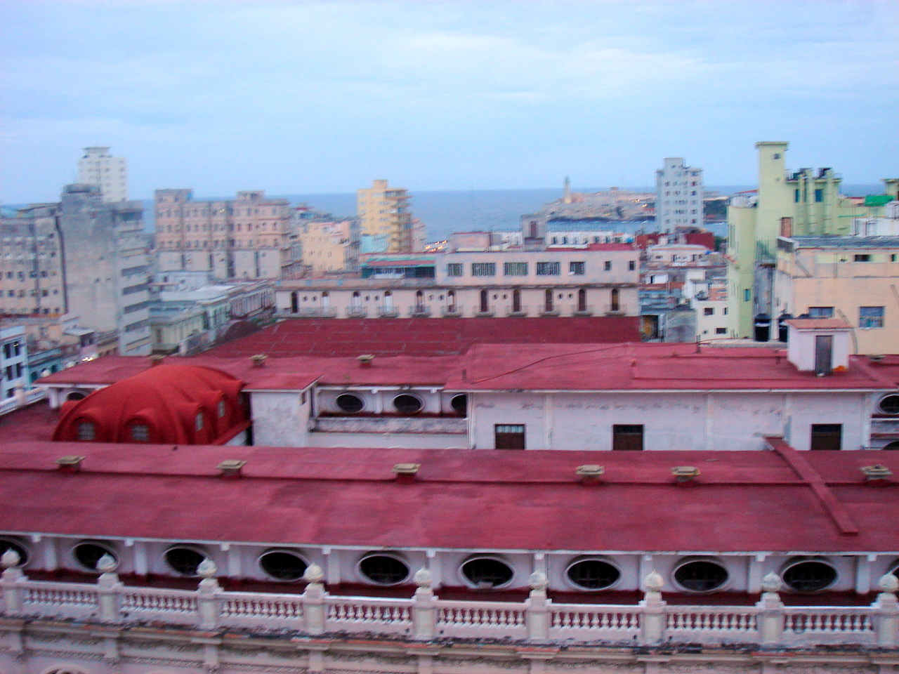 view from old habana's la Hotel Sevilla