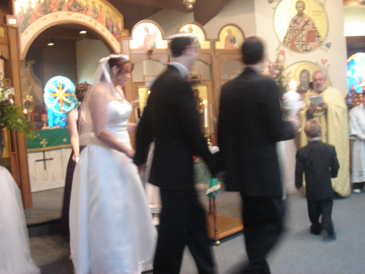 walking around the altar to signify they are ONE