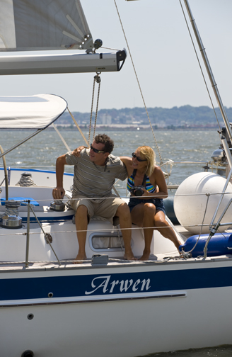 dani and jens, lovers of yacht arwen