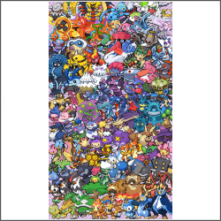 free epic Pokemon generation 4 Cross Stitch pattern