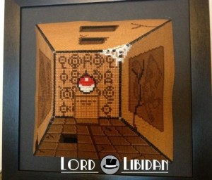 3D Pokemon Cave Cross Stitch by Lord Libidan, side view
