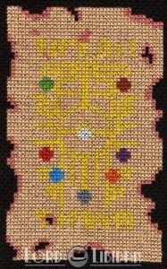 Pokemon Gylph Scroll Cross Stitch