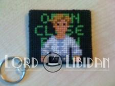 Monkey Island Cross Stitch Keychain