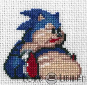 Fat Sonic Cross Stitch by Lord Libidan