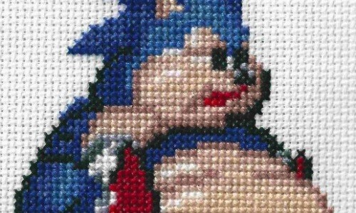 Fat Sonic Cross Stitch