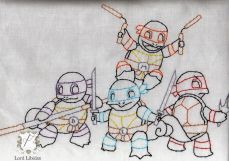 Teenage Mutant Ninja Squirtles Embroidery