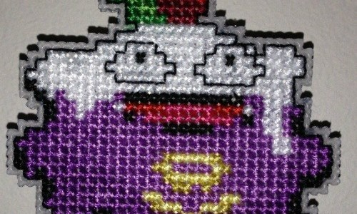 Christmas Pokemon Koffing Bauble Cross Stitch by Lord Libidan