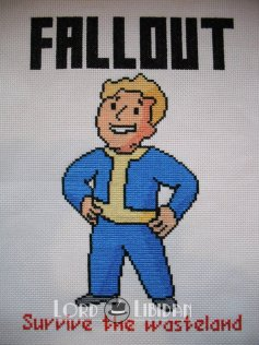 Fallout Vault Boy Cross Stitch