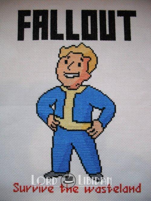 fallout vault boy cross stitch by lord libidan lord libidan