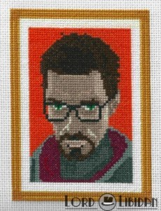 Gordon Freeman Portrait Cross Stitch