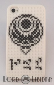 Skyrim iPhone Case Cross Stitch