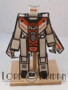 Jetfire Transforming 3D Cross Stitch by Lord Libidan in robot form