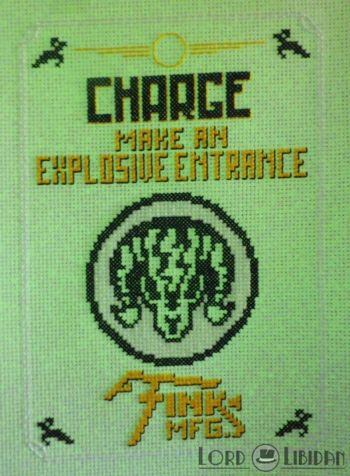 Bioshock Charge Vigor Cross Stitch