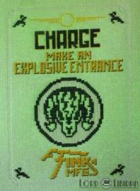 Bioshock Charge Vigor Cross Stitch