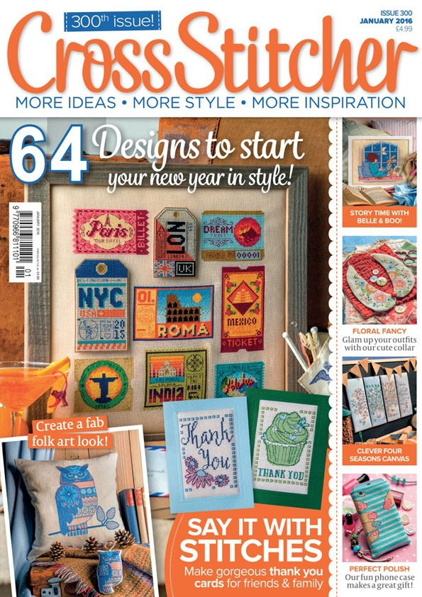 cross stitcher magazine cover december 2015