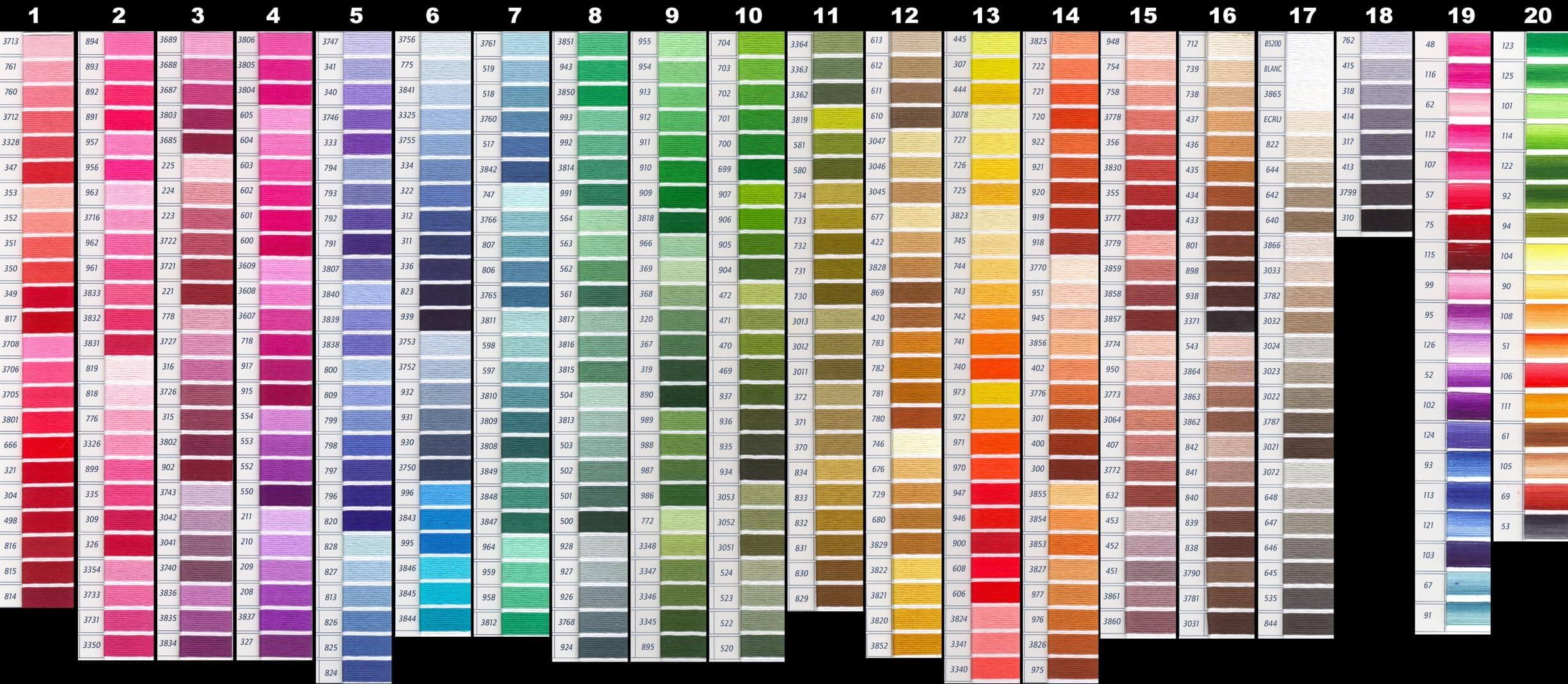 Cross stitch lord libidan thread shade chart 20 geenschuldenfo Gallery