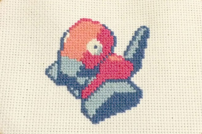 Porygon cross stitch 2