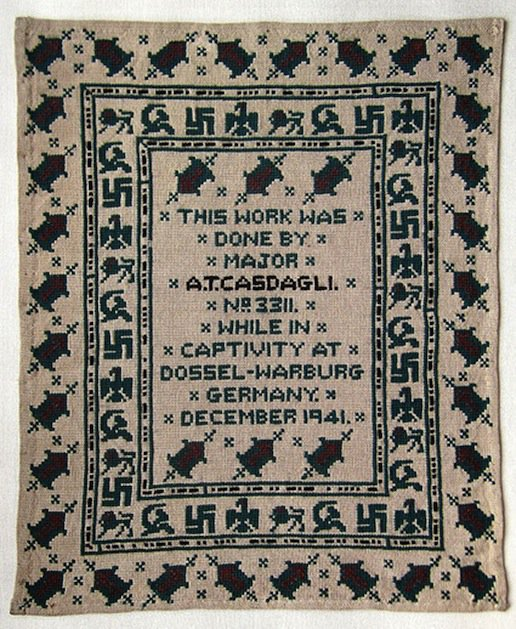 Sampler by Major Alexis Casdagli (source: V&A website)