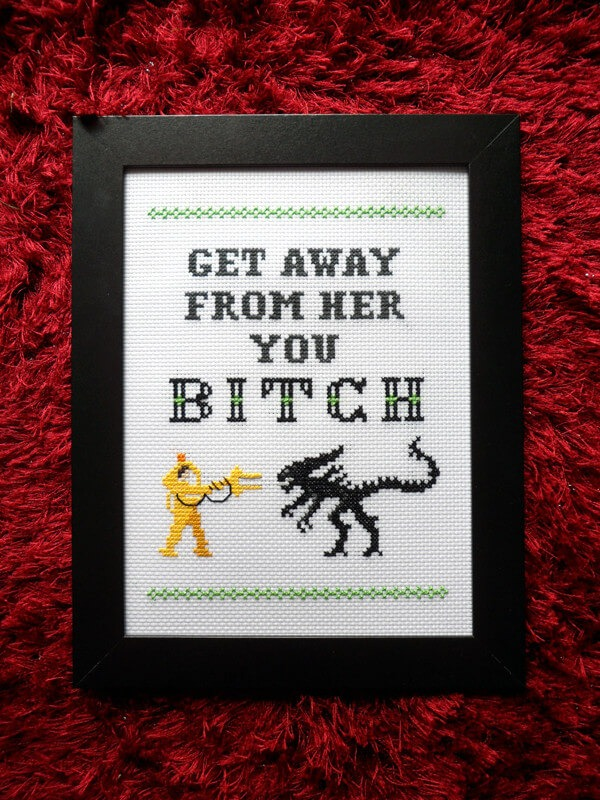 Alien Cross Stitch by ScarlettStitches (source: Etsy.com)
