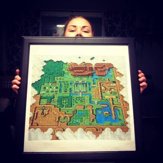 Legend Of Zelda Map Cross Stitch by tibtibs (source: spritestitch.com)