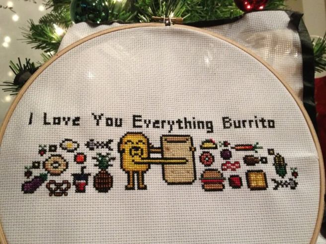Adventure Time Everything Burrito Cross Stitch by LadyBeta (source: reddit)