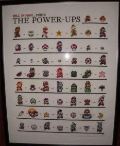 Mario Power Ups Cross Stitch
