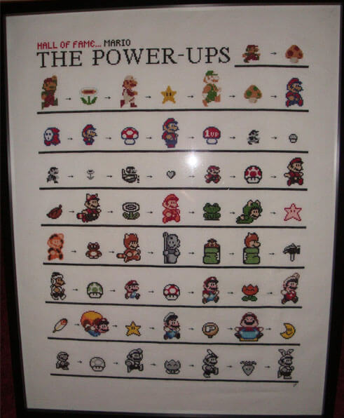 Mario Power Ups Cross Stitch