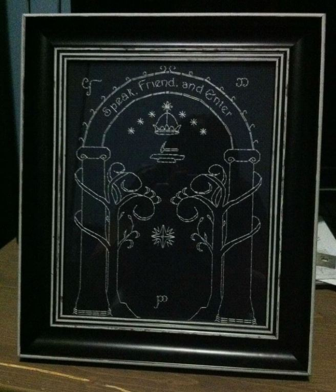 Lord Of The Rings Mines of Moria Cross Stitch by Jamie Sesslin (source: pinterest.com)