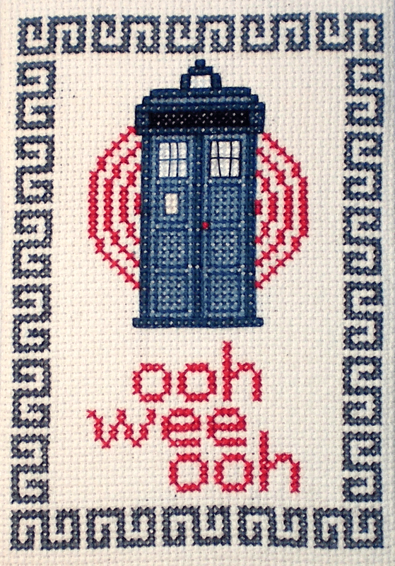 doctor who tardis cross stitch