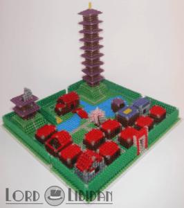 Miniature 3D Ecruteak City Cross Stitch