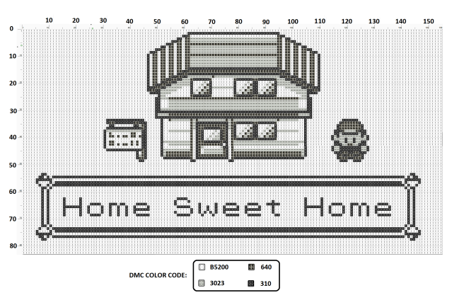 Free Pokemon Home Sweet Home Cross Stitch Pattern