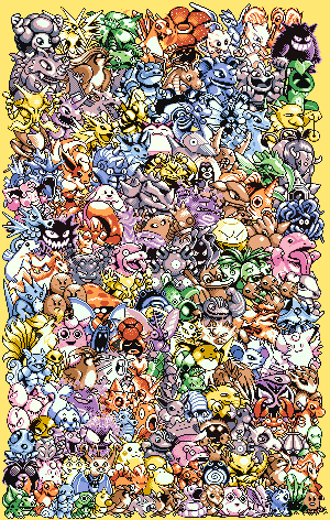150 Pokemon free cross stitch pattern