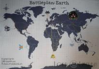 8 Bit Earth Invasion Cross Stitch