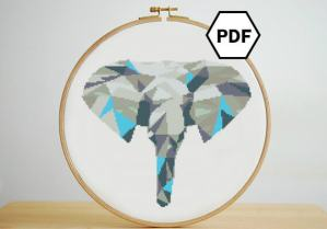 blue-geometric-elephant-cross-stitch