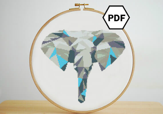 blue-geometric-elephant-cross-stitch