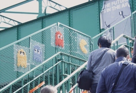 Video Game Cross Stitch Graffiti in Milan by Miss Cross Stitch (source: sayraphimlothian.com)